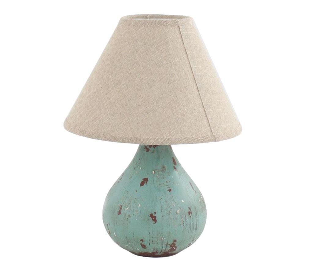 Pronvece zöld színű, koptatott éjjeli lámpák az egyik vendégszobába.