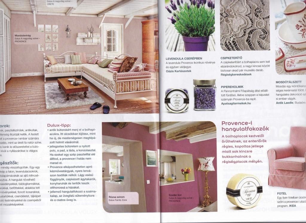 Szerintem konkrétan botrányos, ahogy a lila falakat próbálják elegyíteni a rusztikus gerendákkal és bútorokkal...