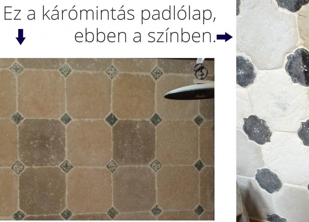Otti kárómintás padlólap világosszürke/fehér és fekete színben.